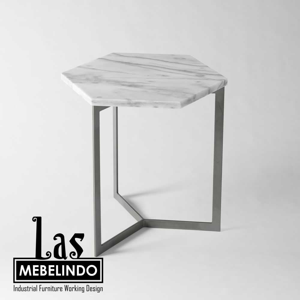 side-table-hexagonal-besi-marble-las-mebel