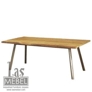 dining-table-meja-makan-model-rustic-industrial-furniture-jepara-mebel-kayu-kaki-besi-powder-coating-metal-wood-las-mebel-jepara