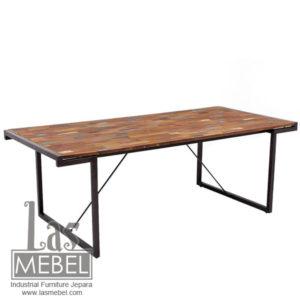 dining-table-meja-makan-rustic-cat-kapal-model-industrial-furniture-jepara-mebel-kayu-besi-powder-coating-metal-wood-las-mebel-jepara