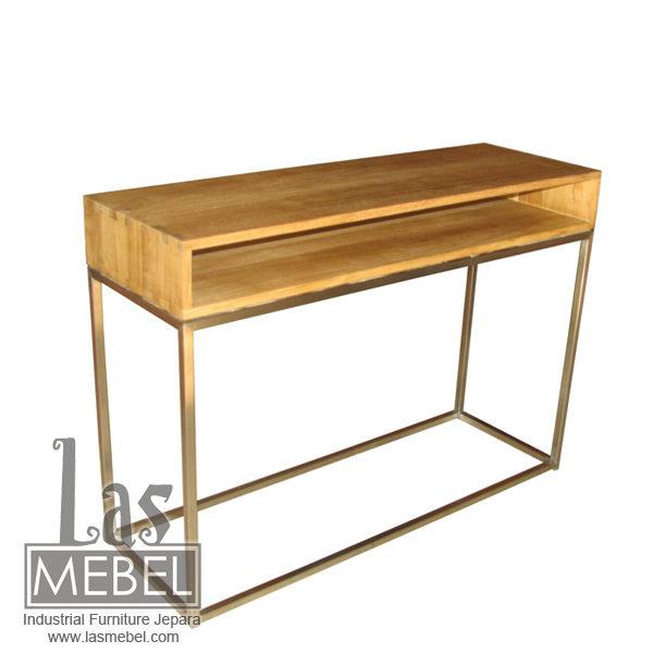 meja-konsol-kaki-stainless-steel-industrial-furniture-jepara-mebel-kayu-besi-powder-coating-metal-wood-las-mebel-jepara
